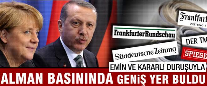 Erdoğan emin ve kararlı görüntüsüyle dünya basınında