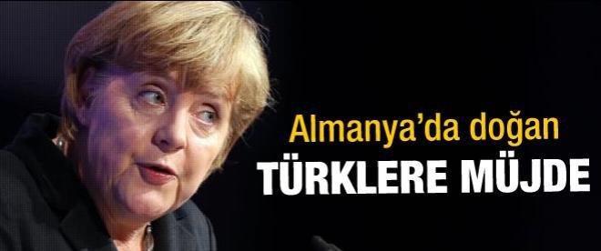 Almanya'da doğan Türklere müjde