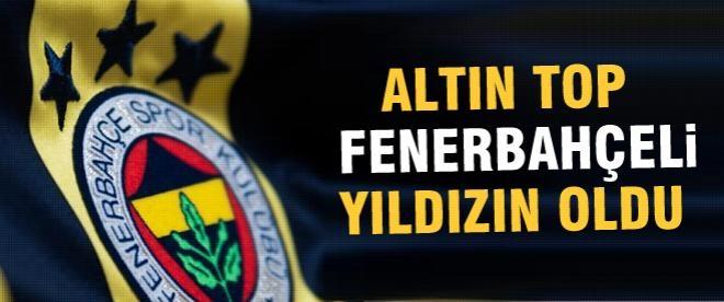 Altın Top Fenerbahçeli yıldıza
