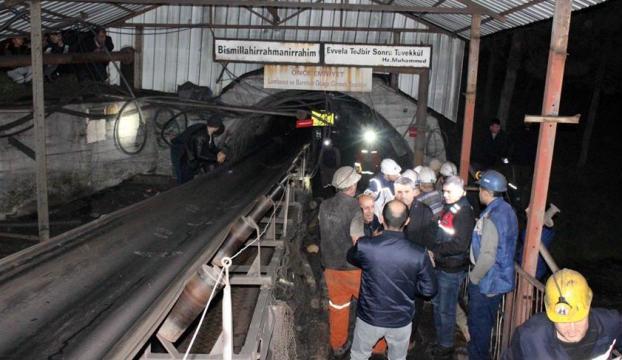 Amasyada maden ocağında göçük