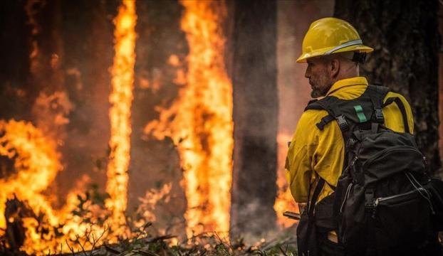 Ormanda çıkan yangın drone ile havadan gözlem sayesinde kısa sürede söndürüldü