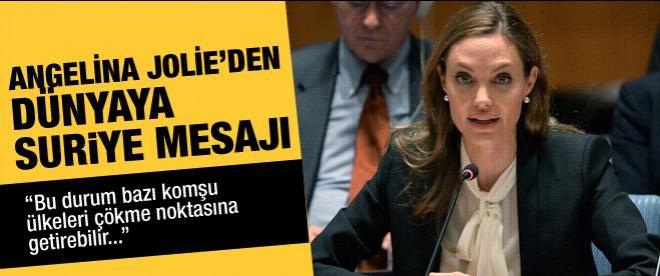 Angelina Jolie'den Suriye mesajı