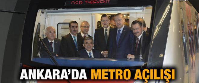 Ankara'da metro açılışı