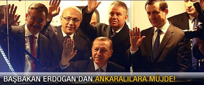 Erdoğan'dan Ankara'ya müjde