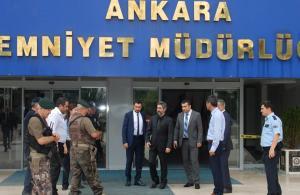 Necati Şaşmaz'ın 15 Temmuz 2016 sonrası Ankara Emniyet Müdürlüğü'nü ziyareti