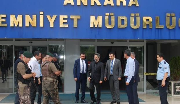 Necati Şaşmazın 15 Temmuz 2016 sonrası Ankara Emniyet Müdürlüğünü ziyareti