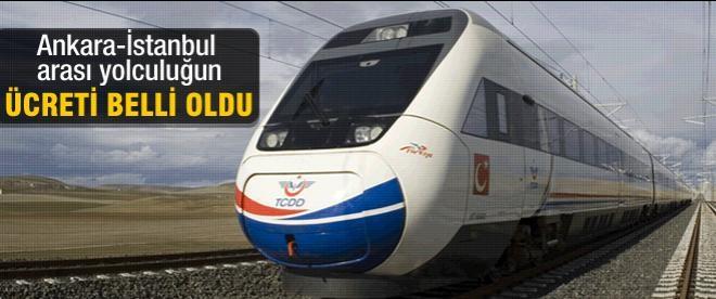 Ankara-İstanbul hızlı treninin fiyatı belli oldu