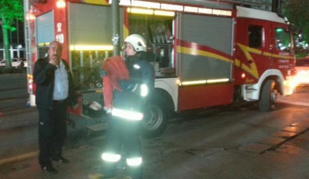 Ankara metrosunda yangın