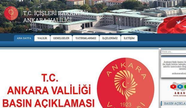 Ankara Valiliğinden Milli Seferberlik açıklaması