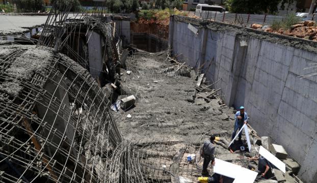 Antalyada inşaatta göçük