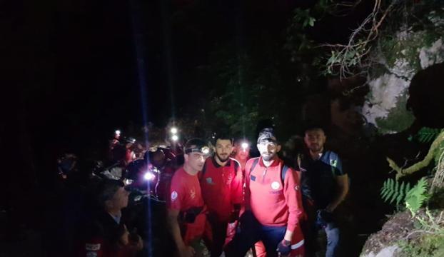 Antalyada kanyonda mahsur kalan turist kurtarıldı