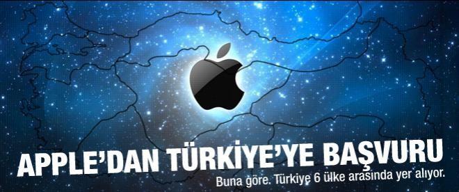 Apple'dan Türkiye'ye başvuru