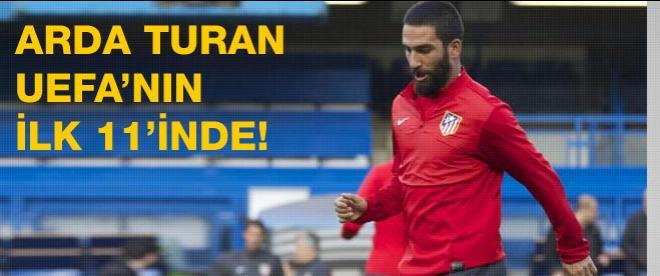 Arda Turan, UEFA'nın 11'inde