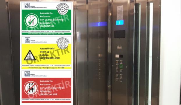 Edirnede kırmızı etiketli asansörler mühürlenecek