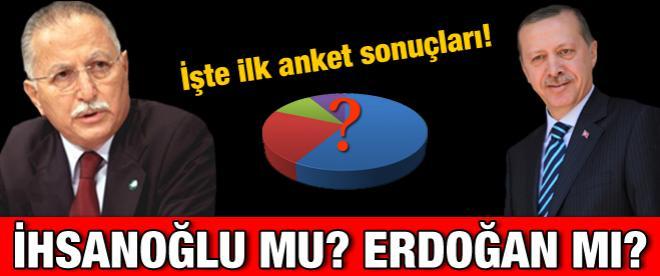 Erdoğan ve İhsanoğlu anketi!