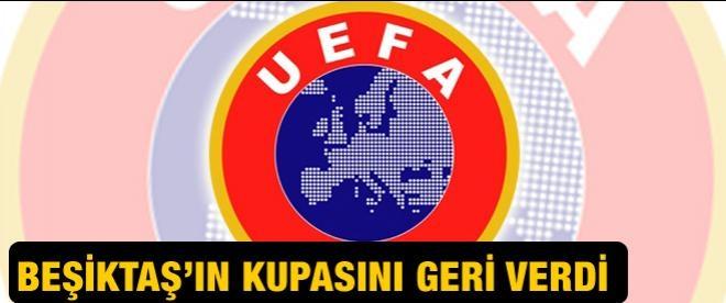 UEFA, Beşiktaş'ın kupasını iade etti