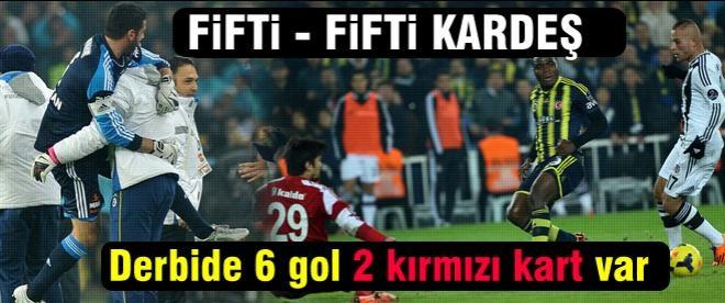 Fenerbahçe-Beşiktaş düellosunda 6 gol var ama kazanan yok