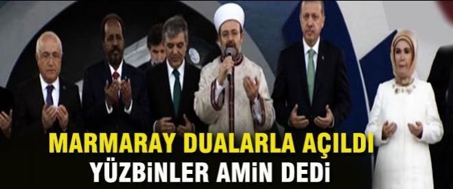 Asrın projesi Marmaray açıldı