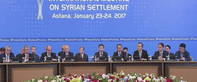 Astanada ilk gün görüşmeleri tamamlandı