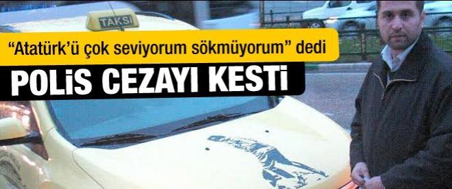 Atatürk çıkartmasına ceza