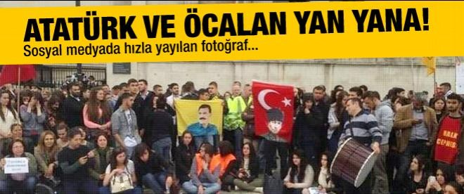 Atatürk ve Öcalan Gezi Parkı için yan yana