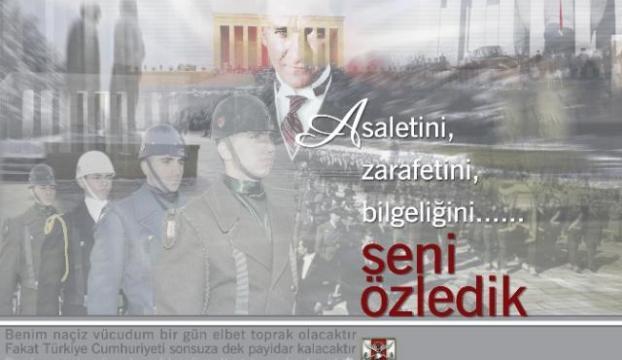 Atatürkü özlemle anıyoruz