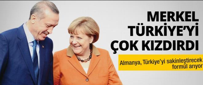 Merkel Türkiye'yi dinletmiş!