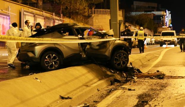 Otomobilde sıkışan sürücü yanarak öldü