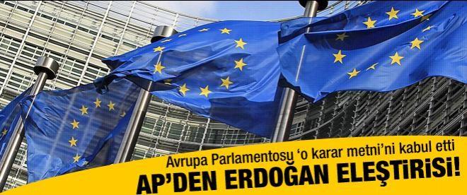 AP'den Başbakan Erdoğan'a eleştiri