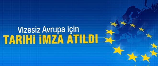 Avrupa'ya vizesiz giriş için ilk imza atıldı