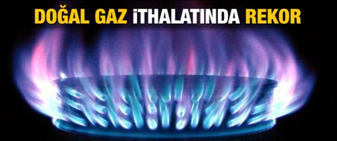 Aylık doğal gaz ithalatında rekor