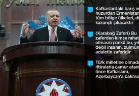Cumhurbaşkanı Erdoğan: Bugün Azerbaycan'ın yanındayız. Bütün dünya bilsin ki yarın da yanında yer alacağız