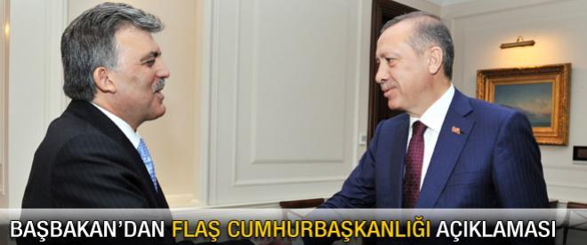 Başbakan Erdoğan'dan flaş Cumhurbaşkanlığı açıklaması