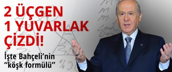 MHP Lideri Bahçeli'den köşk formulü