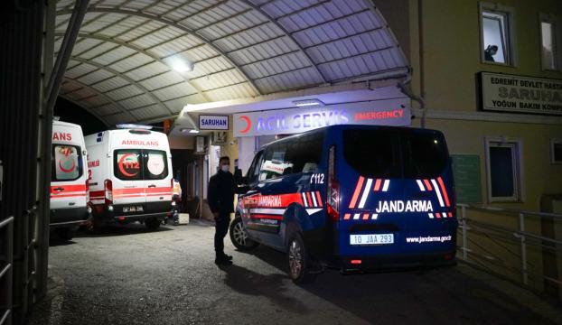 Balıkesirde jandarmaya ateş açıldı: 2 asker yaralı