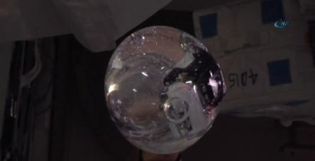 testSu balonuna kamera koyup çekim yaptılar
