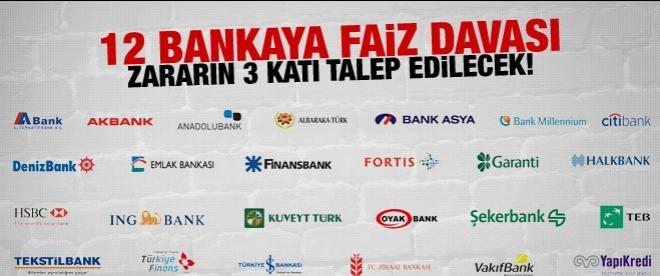 12 bankaya faiz davası