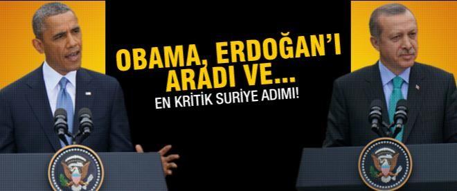 Obama ile Erdoğan 1 saat Suriye'yi konuştu
