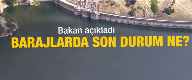 Barajların son durumu ne