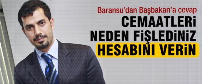 Baransu'dan Başbakan'a cevap