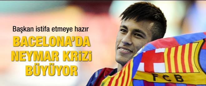 Barcelona'da Neymar krizi