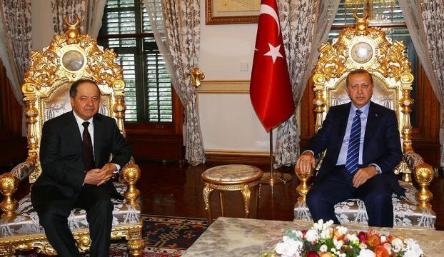 Cumhurbaşkanı Erdoğan Barzaniyi kabul etti