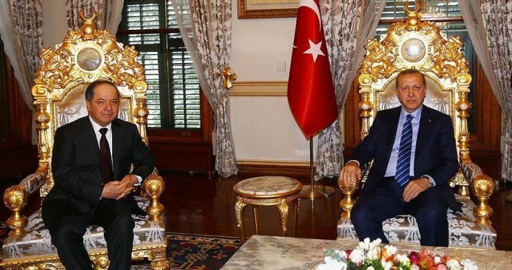 Cumhurbaşkanı Erdoğan Barzani ile görüşüyor