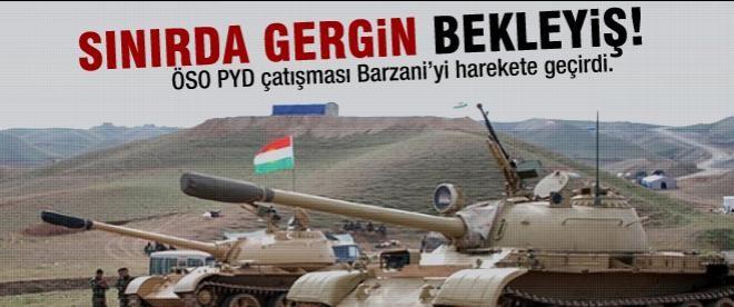 Kürt tankları Suriye için talimat bekliyor
