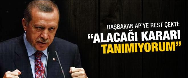 Erdoğan AP'ye rest çekti!