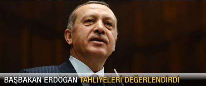 Başbakan Erdoğan'dan tahliye yorumu