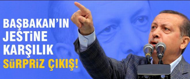 Başbakan Erdoğan'ın jestine sürpriz çıkış