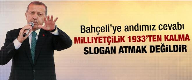 Başbakan Erdoğan Bahçeli'ye sert çıktı