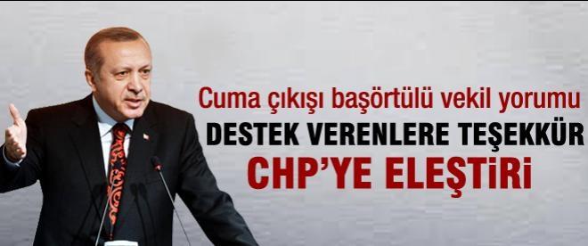 Erdoğan: Başörtüye destek verenlere teşekkürler