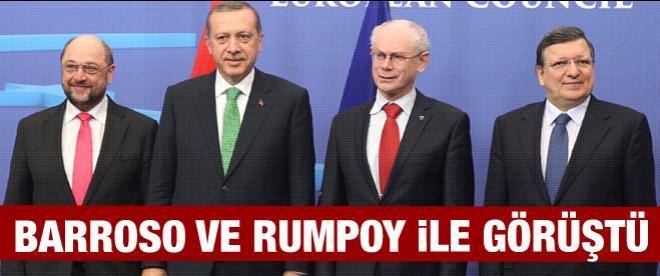 Başbakan Erdoğan, Barroso ve Rompuy ile görüştü